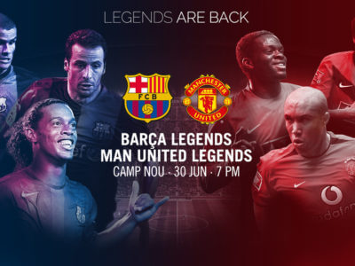 Le match des légendes ! Barcelone vs Manchester United