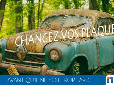 Changer les plaques d'immatriculation de son véhicule