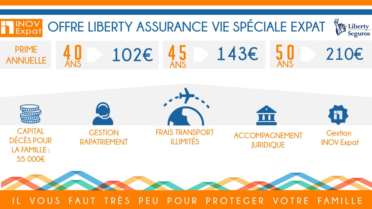 Offre assurance Liberty assurance vie expatrié