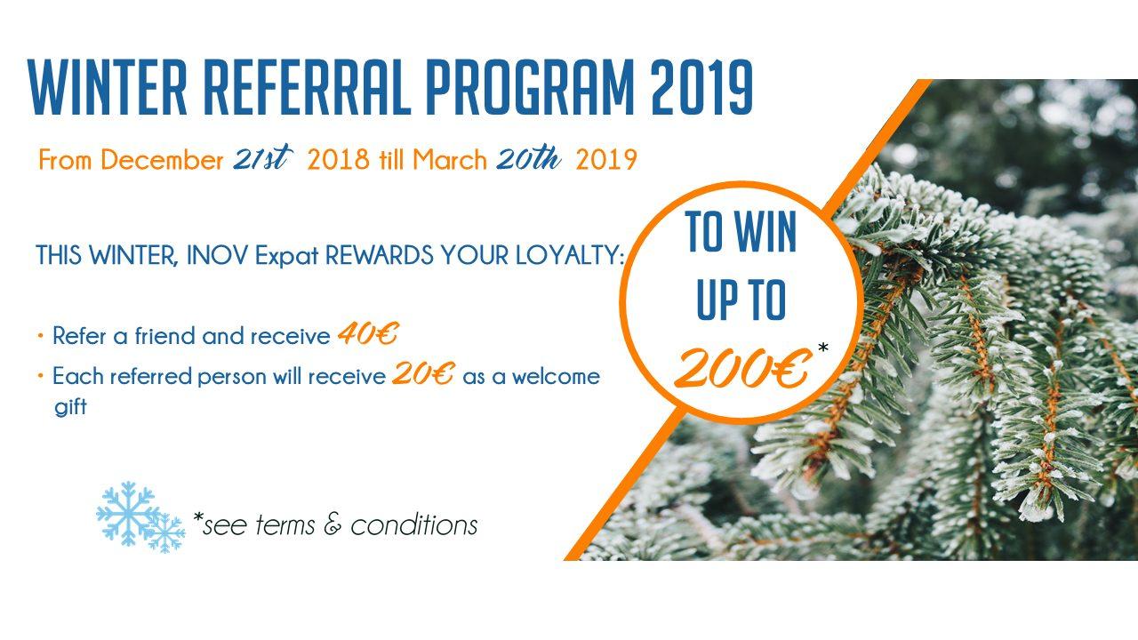 winter referral program 2019