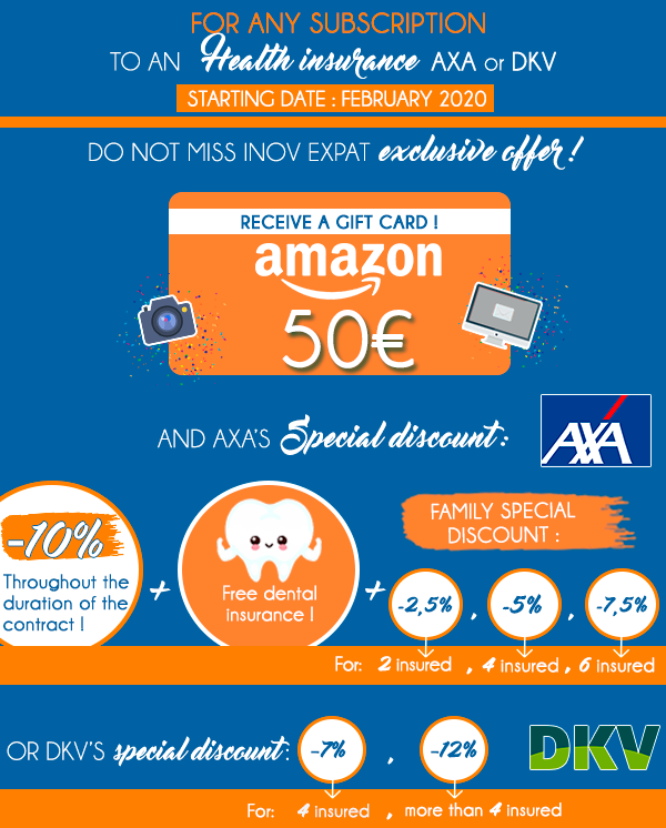 Health Offer AXA DKV Amazon gift card Inov Expat