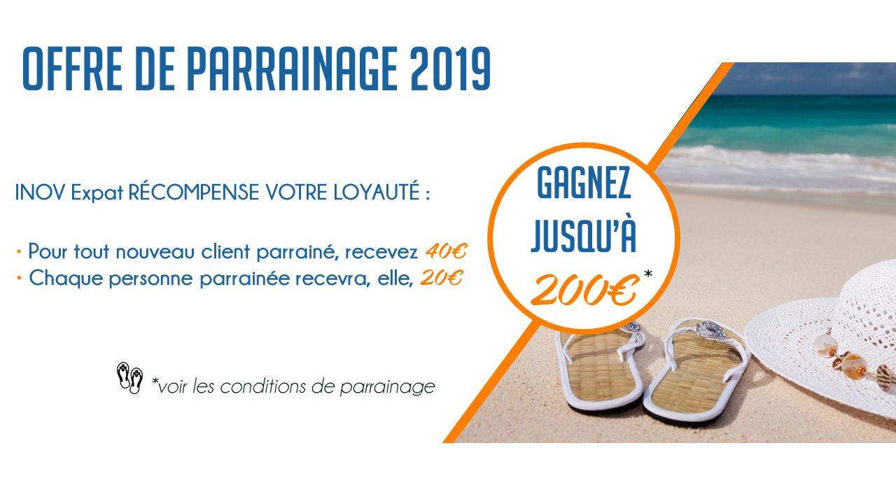 offre parrainage 2019